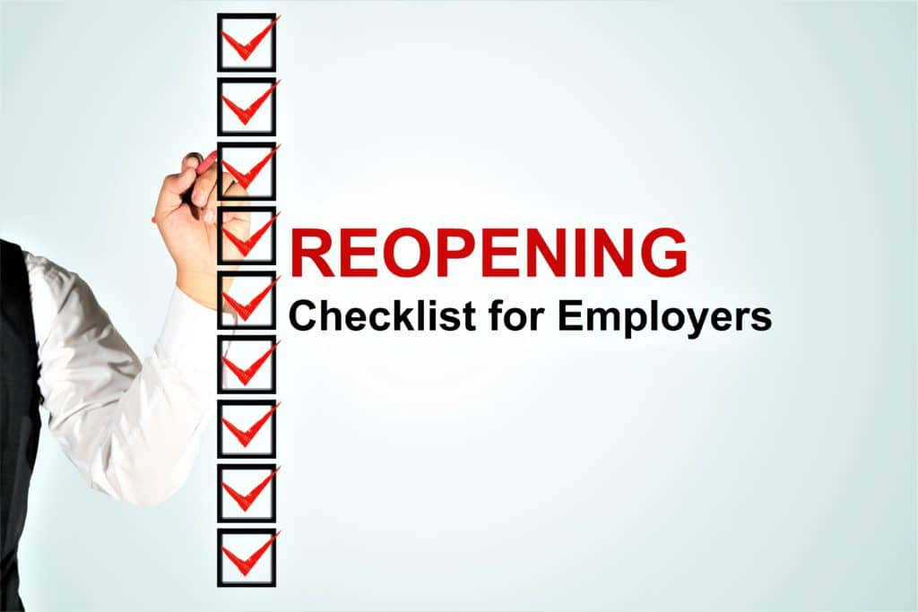 A BACK TO WORK A Coronavirus COVID 19 Reopening Checklist for Employers 1024x683 1