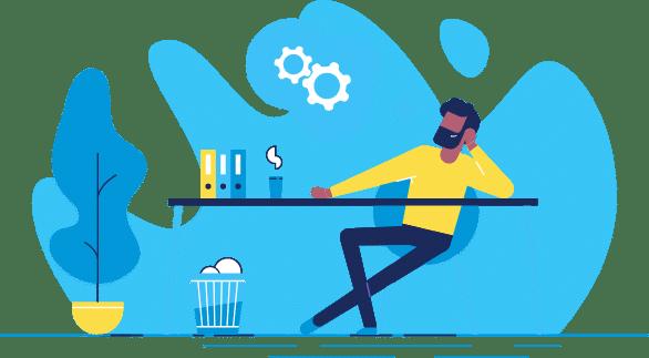 worker at desk